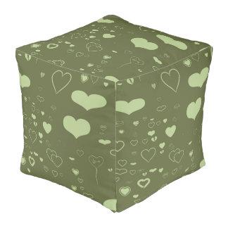 Cute Heart Modern Moss Pouf