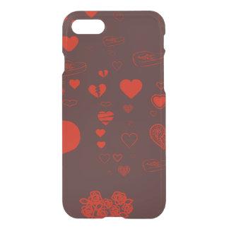 Cute Heart Modern Orange Red iPhone 8/7 Case
