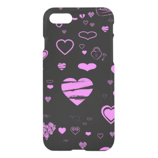 Cute Heart Modern Orchid iPhone 8/7 Case