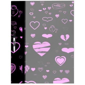Cute Heart Modern Orchid Pattern Dry Erase Board