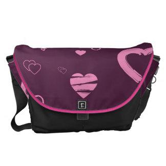 Cute Heart Modern Pink Pattern Courier Bag