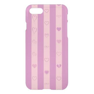 Cute Heart Modern Pink Purple Stripe iPhone 8/7 Case