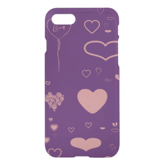 Cute Heart Modern Purple iPhone 8/7 Case