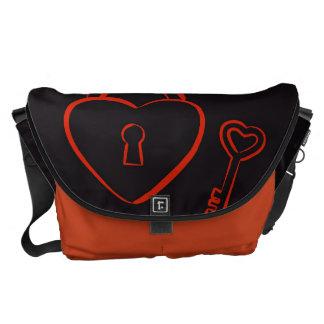 Cute Heart Modern Red Pattern Courier Bag