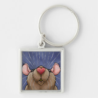 Cute Heart Rat Keychain