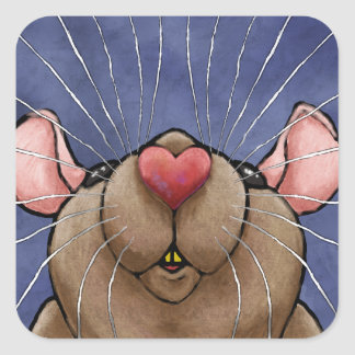 Cute Heart Rat Sticker