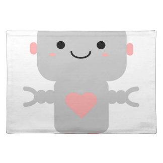Cute Heart Robot Placemat