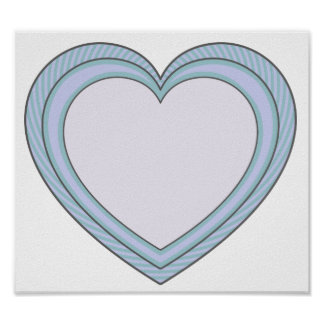 Cute Heart Shaped Love Poster
