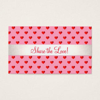 Cute Heart Valentine Promotional Referral Card