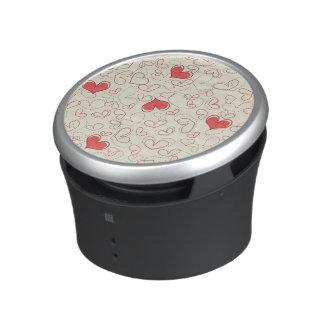 Cute Hearts Background Bluetooth Speaker