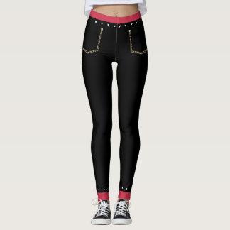 Cute Hearts Black Skinny Jeans Leggings