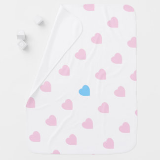 Cute Hearts Design Baby Blanket