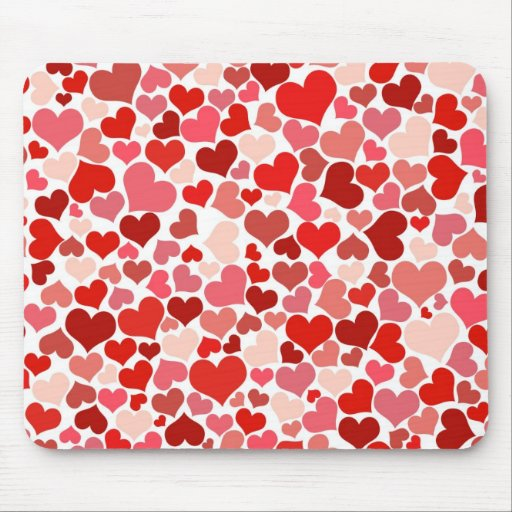 Cute Hearts Mouse Pad