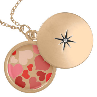 Cute Hearts Necklace-Customizable Gold Plated Necklace
