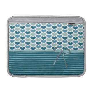 Cute Hearts  Stripes and Bow Sleeves For MacBook Air