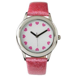 Cute hearts watch