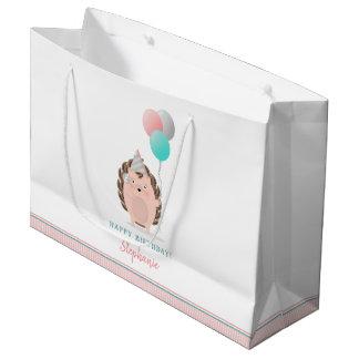 Cute Hedgehog Birthday Large Gift Bag