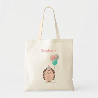 Cute Hedgehog Birthday Tote Bag