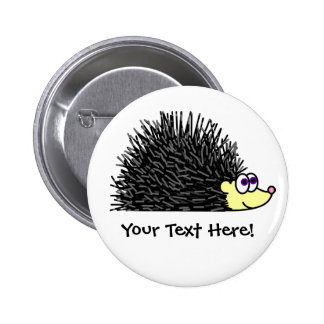 Cute Hedgehog Button - Customizable!