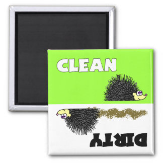 Cute Hedgehog Clean / Dirty Dishwasher Magnet
