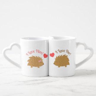 Cute Hedgehog couple in Love Coffee Mug Set