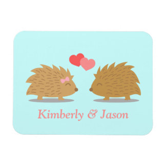 Cute Hedgehog Couple in Love Magnet