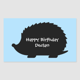 Cute Hedgehog Custom Happy Birthday Sticker