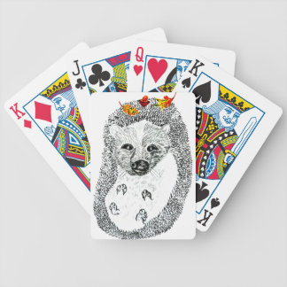 Cute Hedgehog Drawing2 Bicycle Playing Cards
