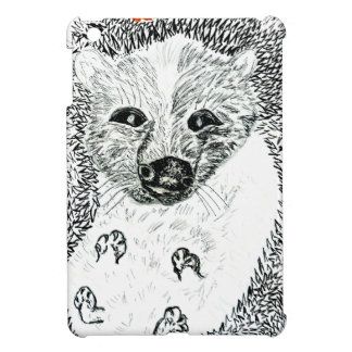Cute Hedgehog Drawing2 Cover For The iPad Mini