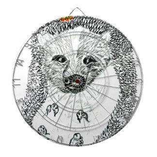 Cute Hedgehog Drawing2 Dartboard