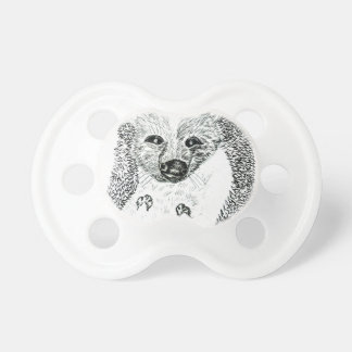 Cute Hedgehog Drawing2 Pacifier