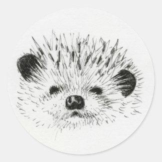 Cute Hedgehog drawing Classic Round Sticker