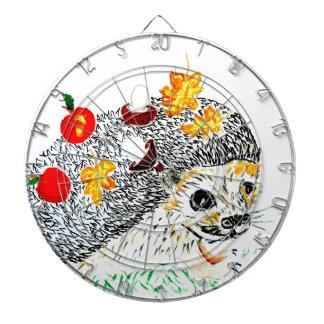Cute Hedgehog Drawing Dartboard