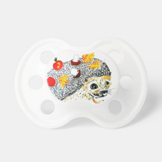 Cute Hedgehog Drawing Pacifier