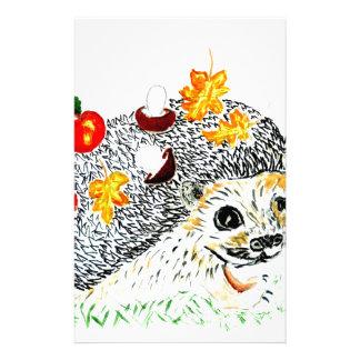 Cute Hedgehog Drawing Stationery