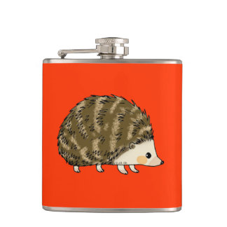 Cute hedgehog hip flask