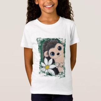 Cute Hedgehog Holding A Flower T-Shirt