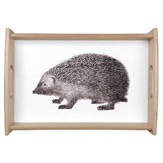 Cute Hedgehog Little Hedgie Drawing Serving Tray