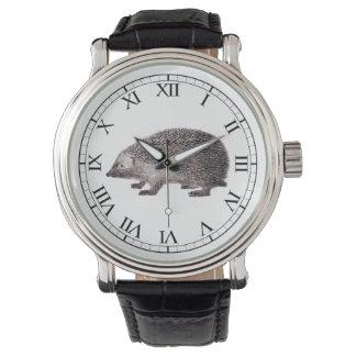 Cute Hedgehog Lover's Hedgie Vintage Print Watch