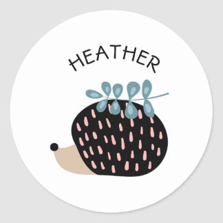 Cute hedgehog names custom template sticker