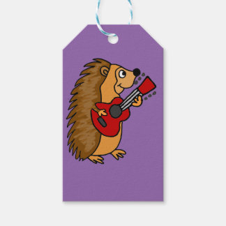 Cute Hedgehog Playing Guitar Art Gift Tags