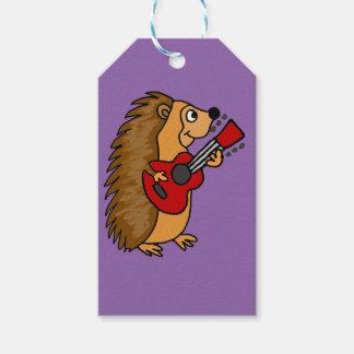 Cute Hedgehog Playing Guitar Art Pack Of Gift Tags