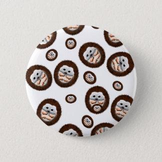 cute hedgehogs 2 inch round button
