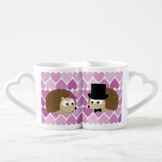 Cute Hedgehogs In Love Coffee Mug Set