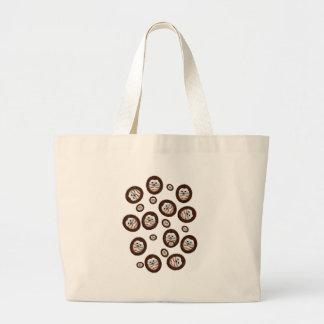 cute hedgehogs large tote bag