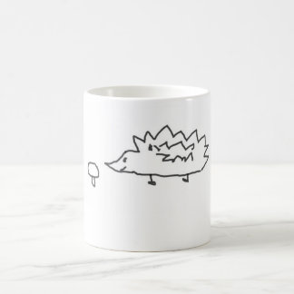 Cute Hedghehog and Mushroom Mug