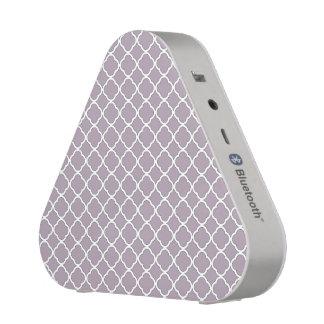 Cute Heliotrope Gray Quatrefoil Maroccan Pattern Blueooth Speaker