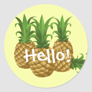 Cute Hello Yellow Pineapples Stickers