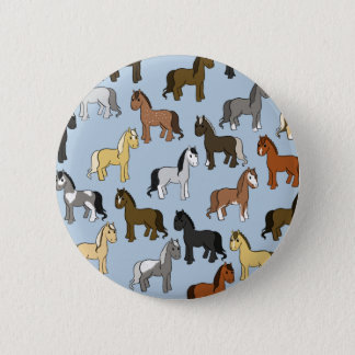 Cute Herd of Horses 2 Inch Round Button