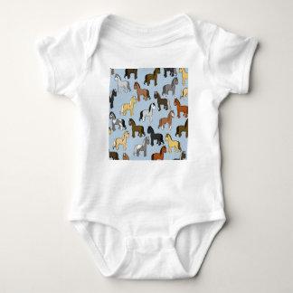 Cute Herd of Horses Baby Bodysuit